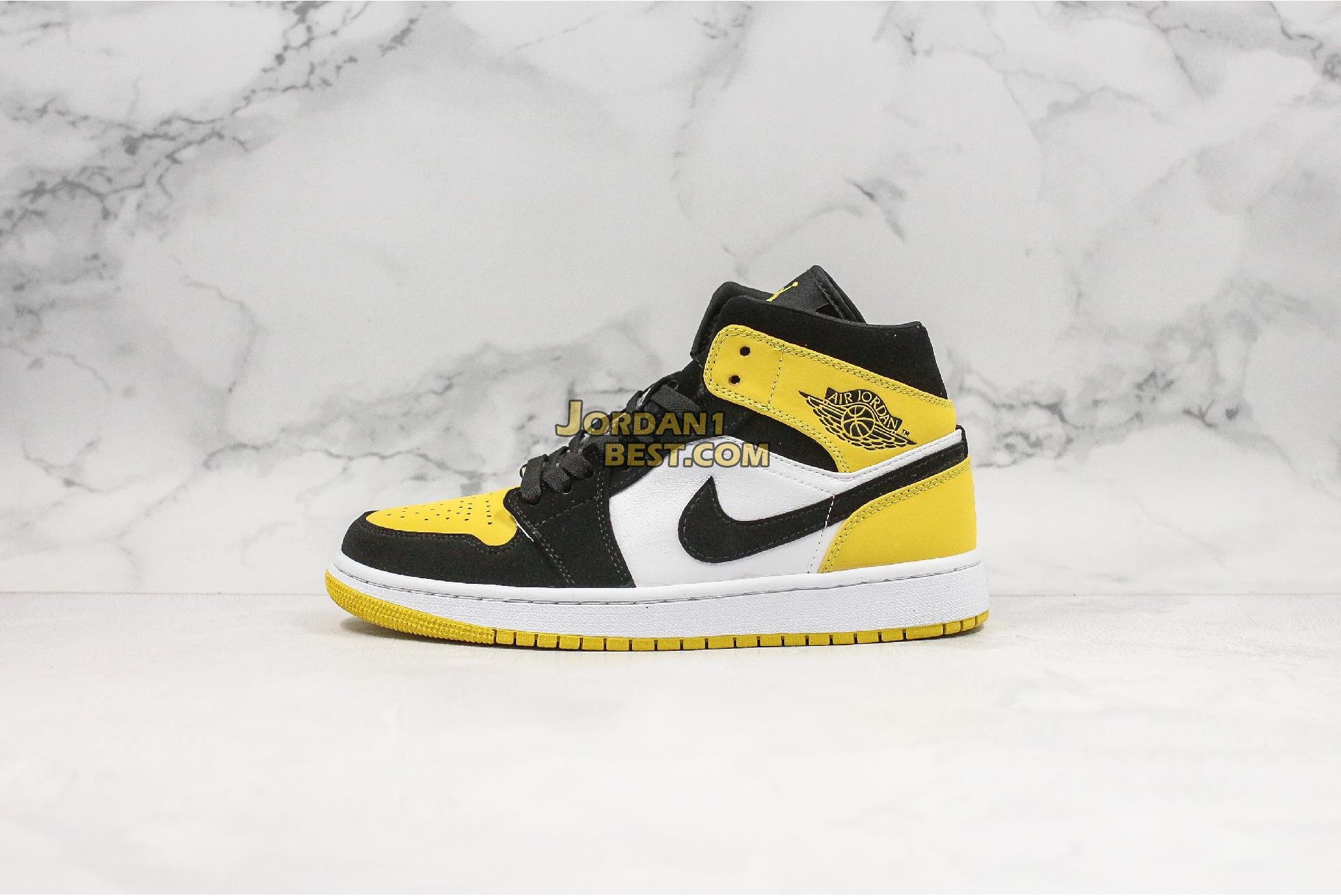 "Air Jordan 1 Mid SE ""Yellow Toe"" 852542-071 Mens"