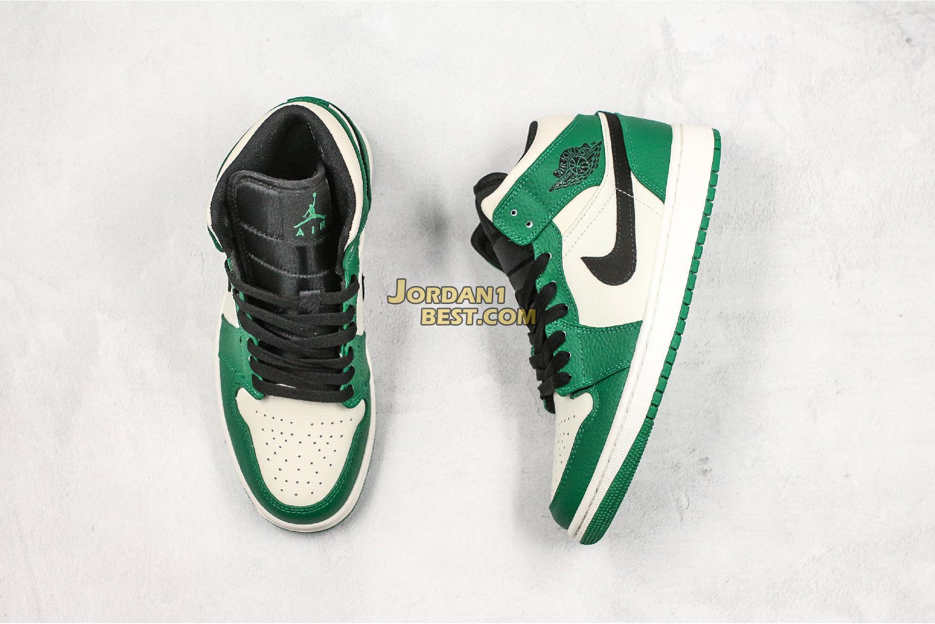 "Air Jordan 1 Mid ""Pine Green"" 852542-301 Mens"