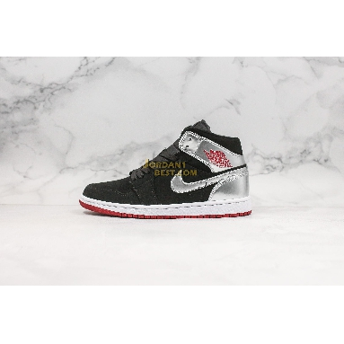 "top 3 fake Air Jordan 1 Mid ""Johnny Kilroy"" 554724-057 Mens black/gym red-metallic silver Shoes replicas On Wholesale Sale Online"