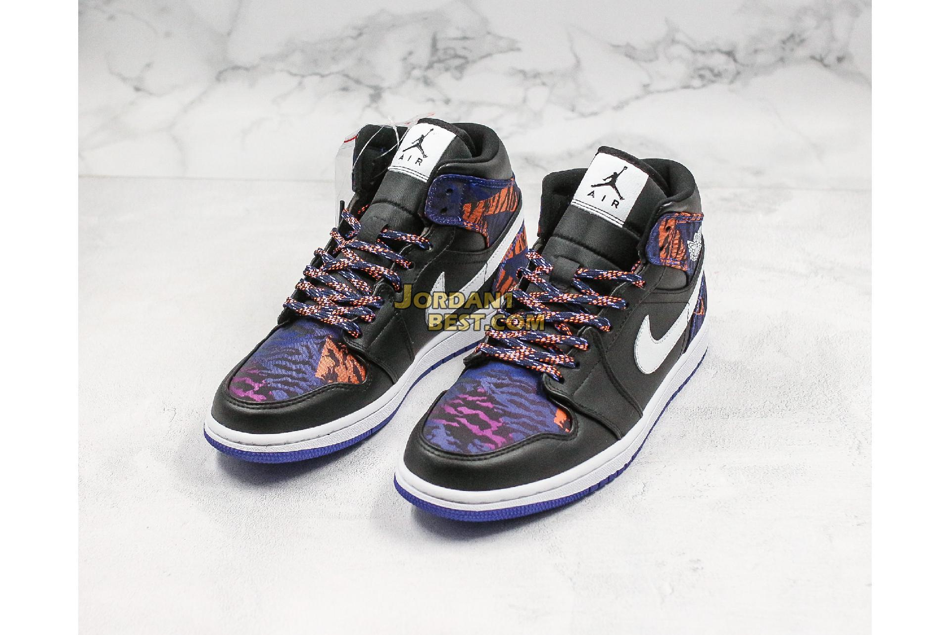"Air Jordan 1 Mid GS ""Tiger Print"" AV5174-005 Mens Womens"