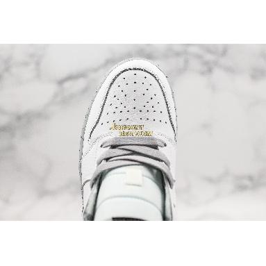 "best replicas Air Jordan 1 Retro Mid GS ""White Cement"" 554725-115 Mens Womens white/black-wolf grey Shoes replicas On Wholesale Sale Online"