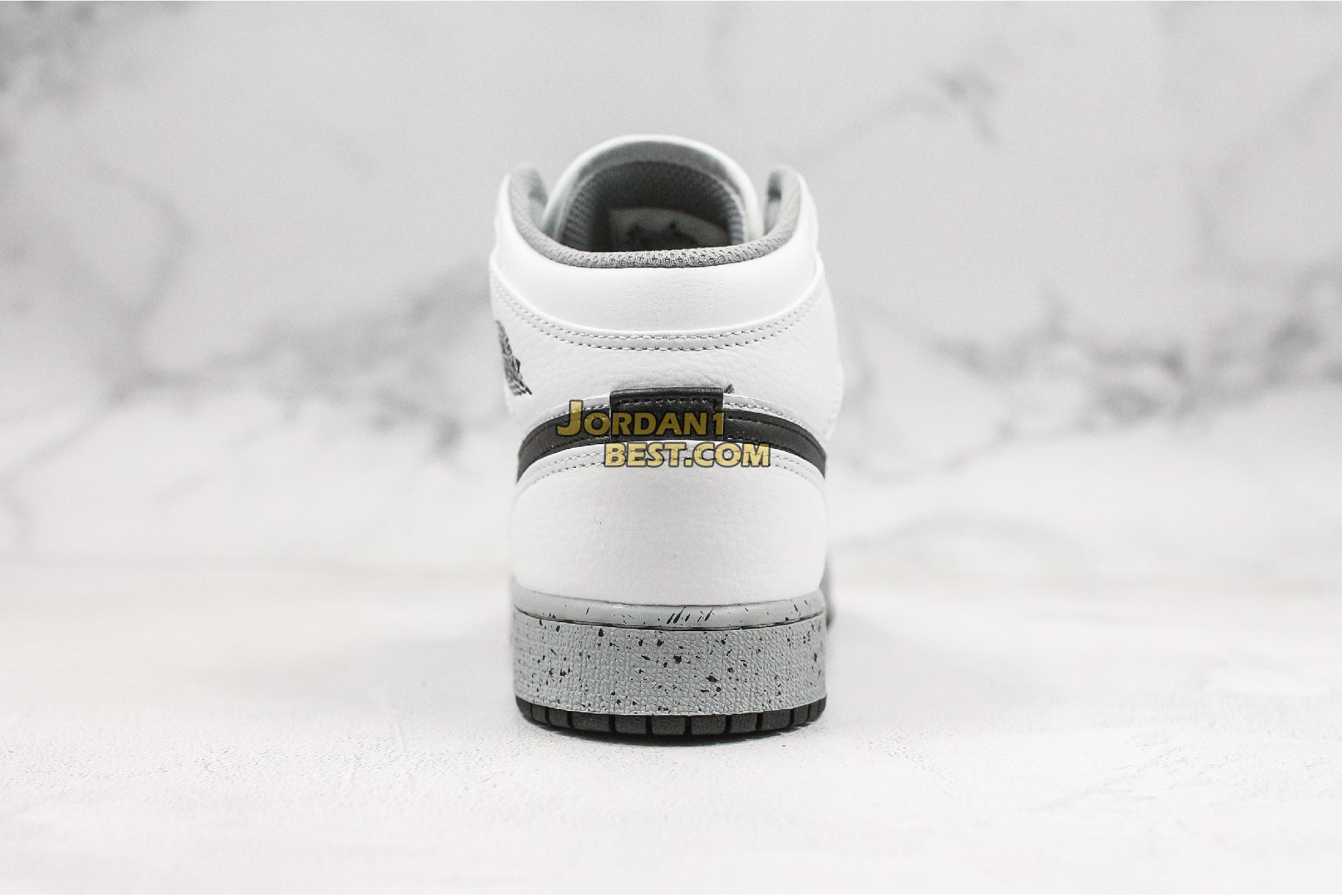 """Air Jordan 1 Retro Mid GS """"White Cement"""" 554725-115 Mens Womens"""