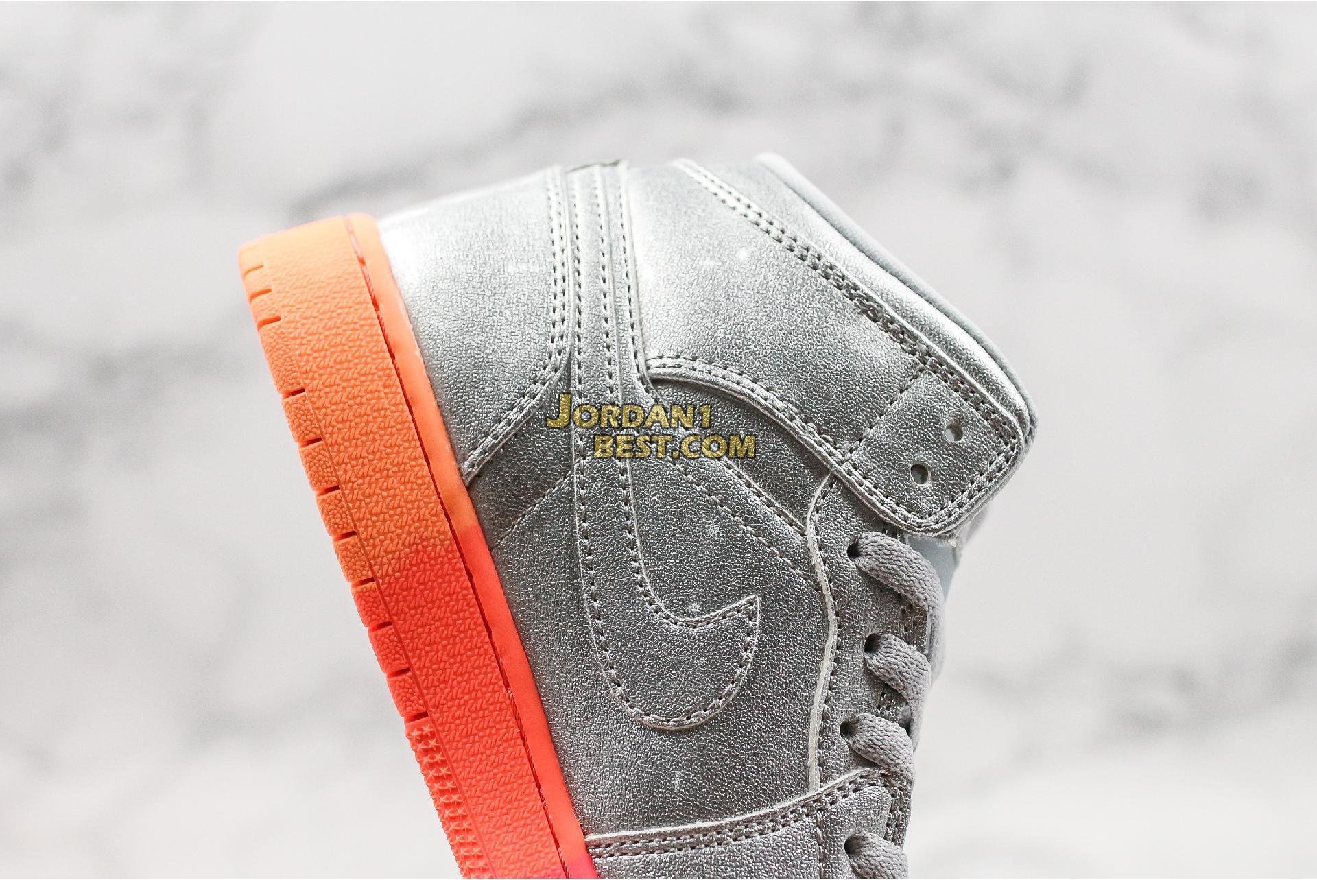 "Air Jordan 1 Mid GS ""Metallic Silver Pink Crimson"" 555112-006 Mens Womens"