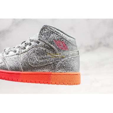 "best replicas Air Jordan 1 Mid GS ""Metallic Silver Pink Crimson"" 555112-006 Mens Womens metallic silver/racer pink-wolf grey-hot punch Shoes replicas On Wholesale Sale Online"