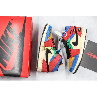 """best replicas Blue The Great x Air Jordan 1 Mid """"Fearless"""" CU2805-100 Mens Womens blue/red/yellow/green/white/black Shoes replicas On Wholesale Sale Online"""