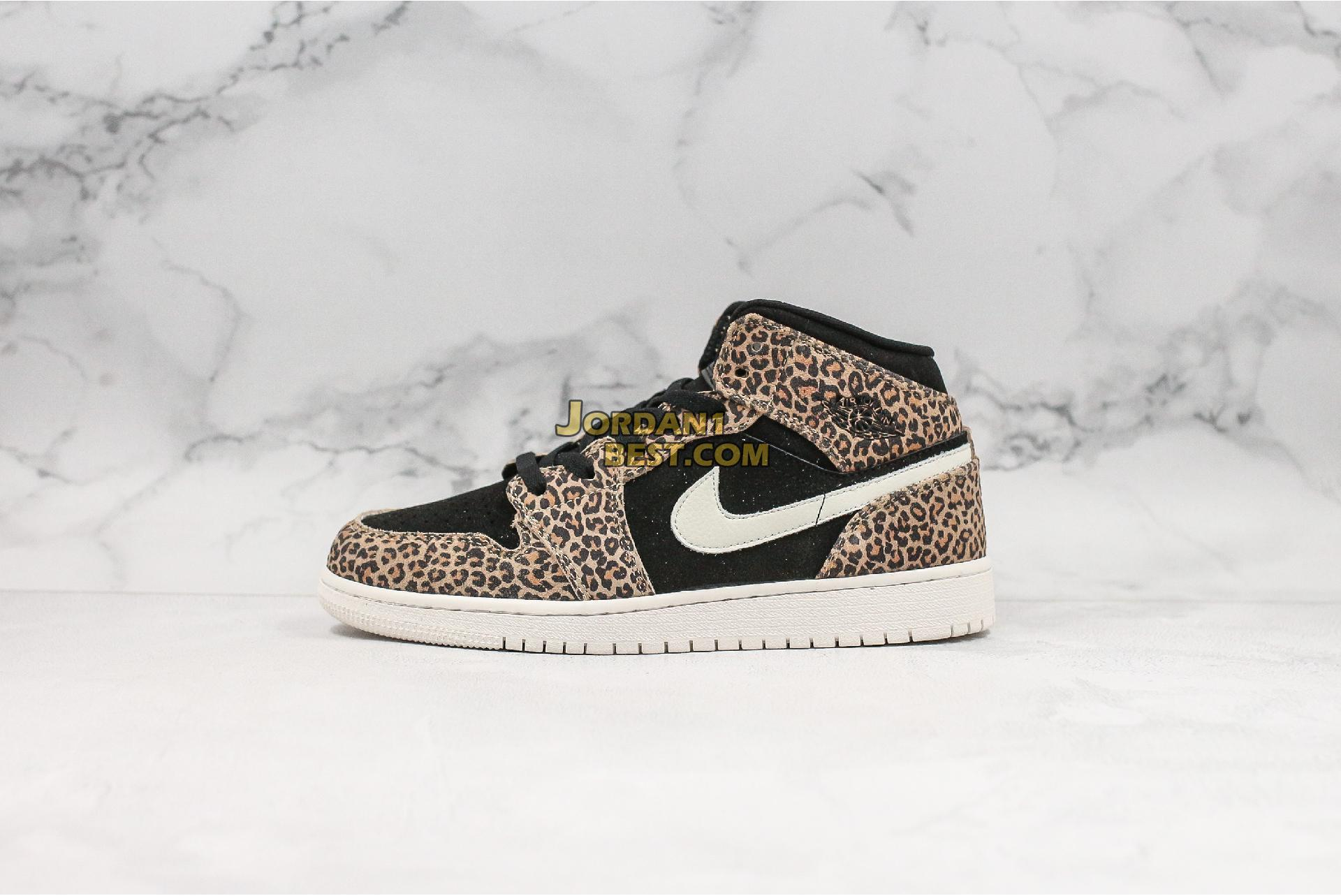 "Air Jordan 1 Mid SE GS ""Cheetah"" BQ6931-021 Womens"