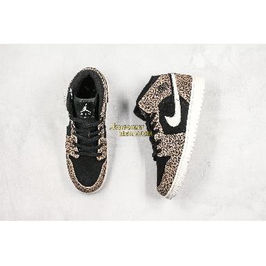 "new replicas Air Jordan 1 Mid SE GS ""Cheetah"" BQ6931-021 Womens black/pale ivory-desert ore Shoes replicas On Wholesale Sale Online"