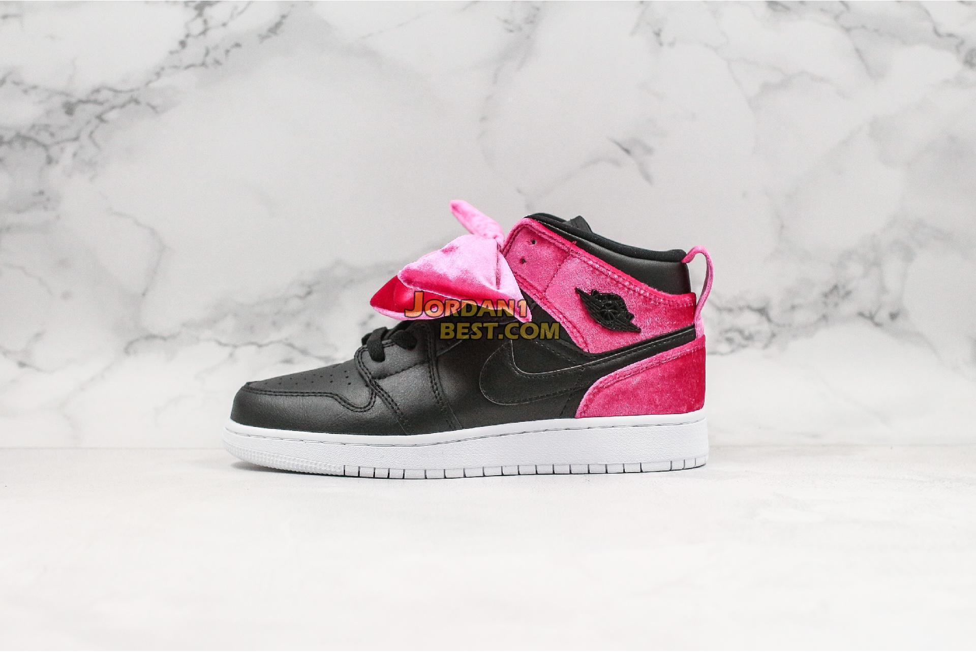 "Air Jordan 1 Mid Bow XLD GS ""Noble Red"" CK5678-006 Womens"