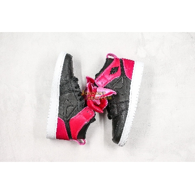 "best replicas Air Jordan 1 Mid Bow XLD GS ""Noble Red"" CK5678-006 Womens black/noble red Shoes replicas On Wholesale Sale Online"