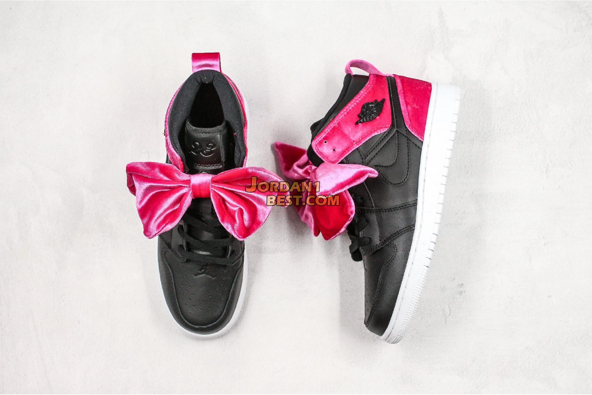 "Air Jordan 1 Mid Bow XLD GS ""Noble Red"" CK5678-006 Womens"