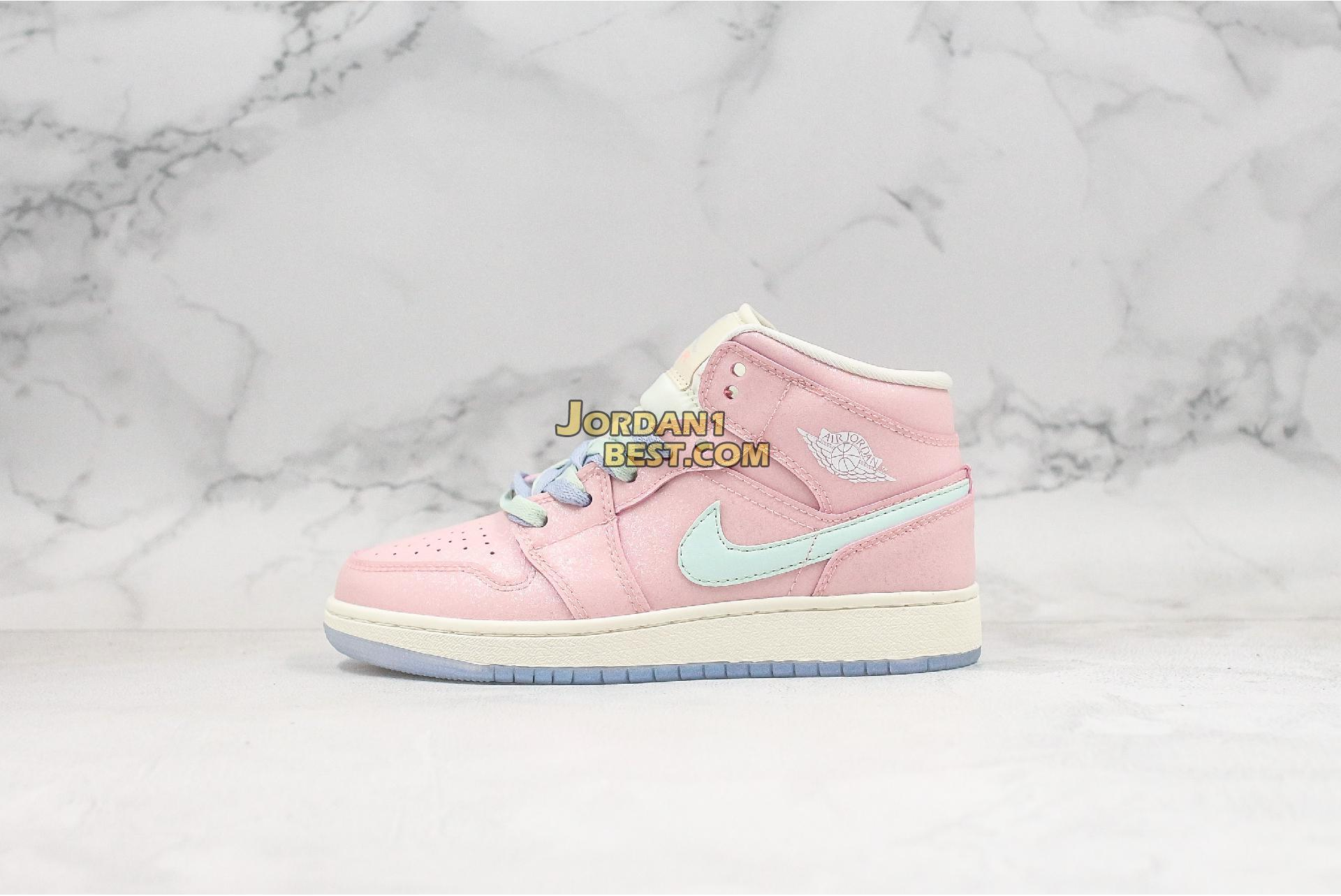 "Air Jordan 1 Mid ""Pink"" 555112-600 Womens"