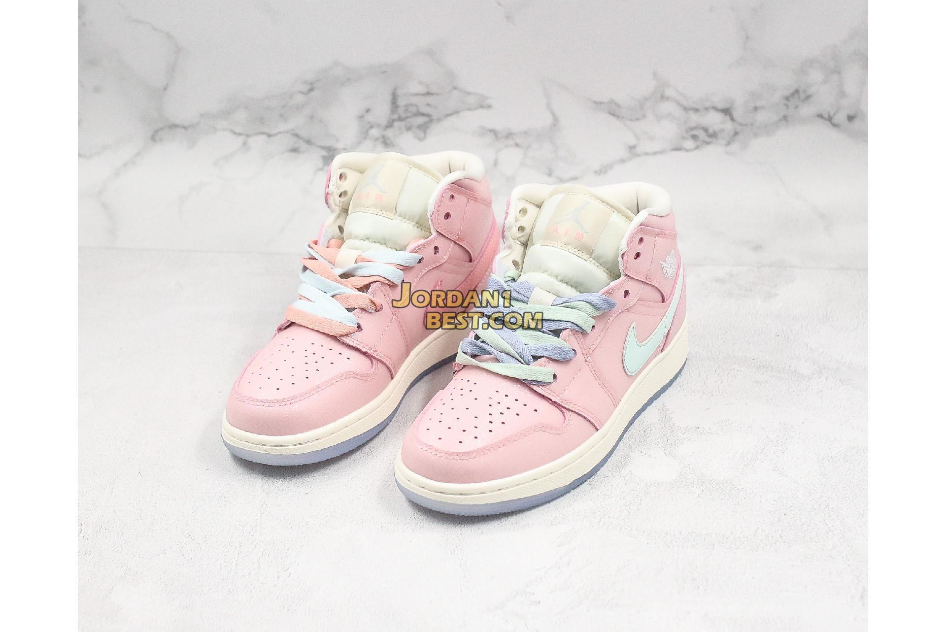 "Air Jordan 1 Mid ""Pink"" 555112-600 Womens"