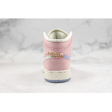 """new replicas Air Jordan 1 Mid """"Pink"""" 555112-600 Womens pink/grey-white Shoes replicas On Wholesale Sale Online"""