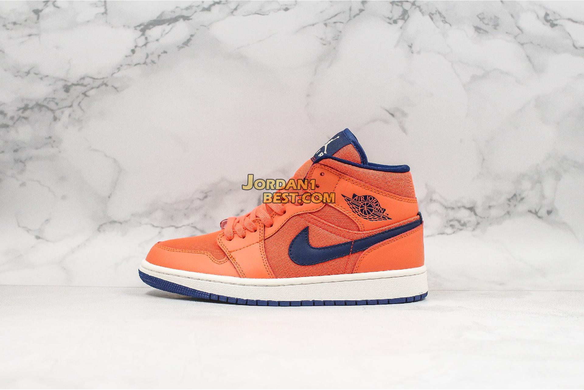 "Air Jordan 1 Mid ""Turf Orange"" CD7240-804 Mens Womens"
