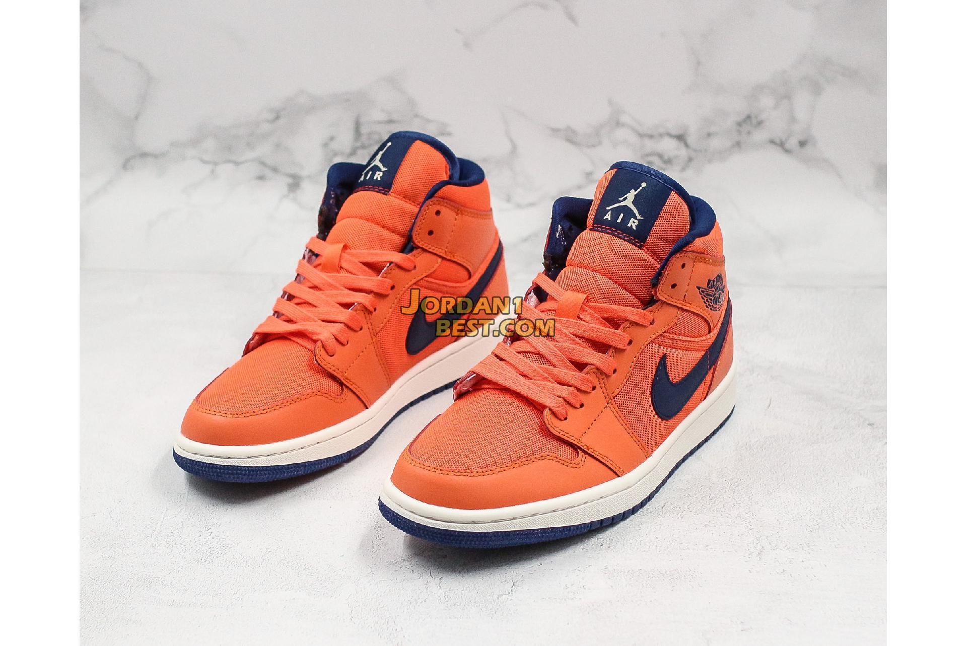 "Air Jordan 1 Mid ""Turf Orange"" CD7240-804 Mens Womens"