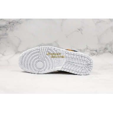"best replicas Air Jordan 1 Mid SE Premium ""Stain Gold"" 852542-401 Mens Womens stain gold/obsidian-white Shoes replicas On Wholesale Sale Online"