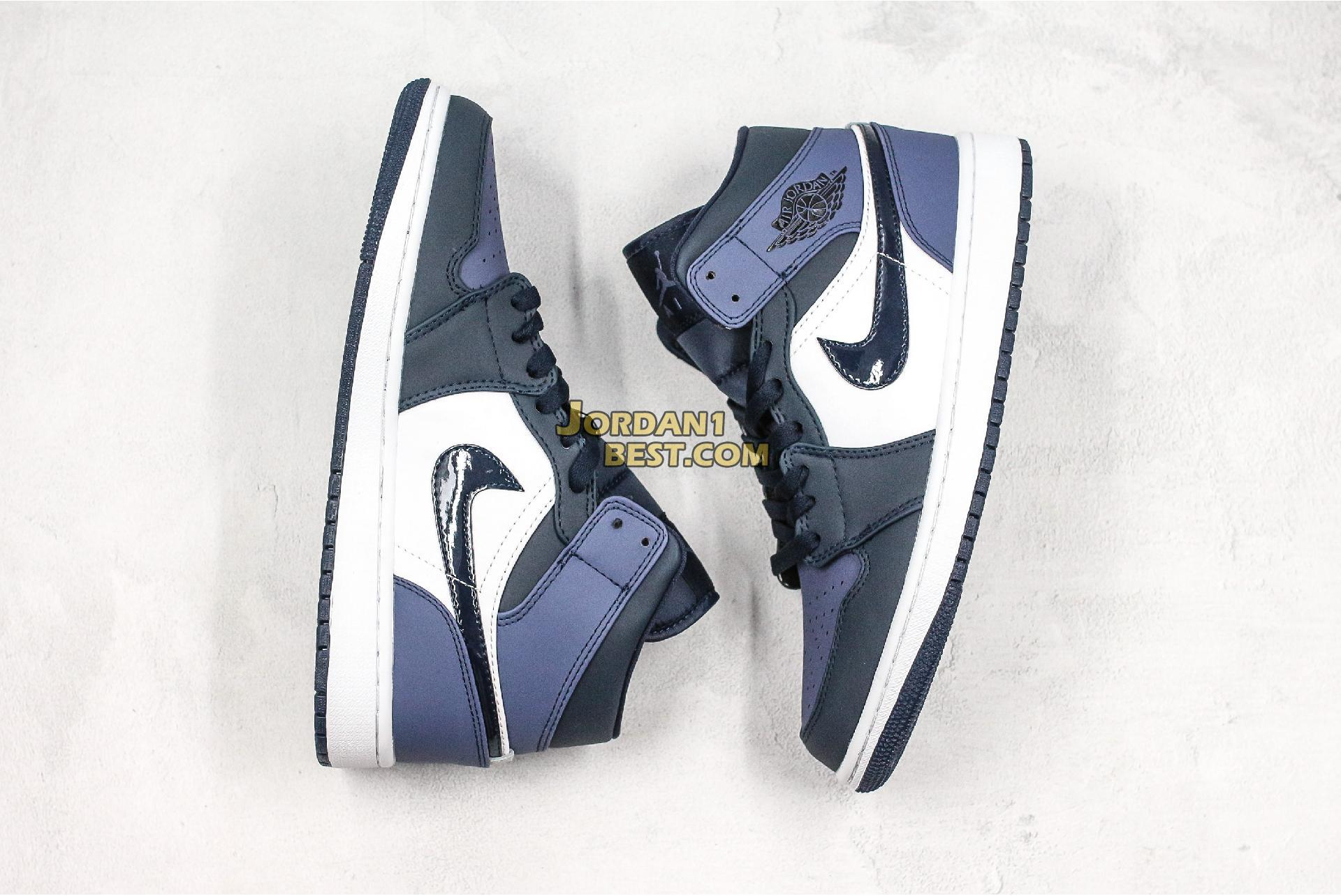 "Air Jordan 1 Mid ""Sanded Purple"" 554724-445 Mens Womens"