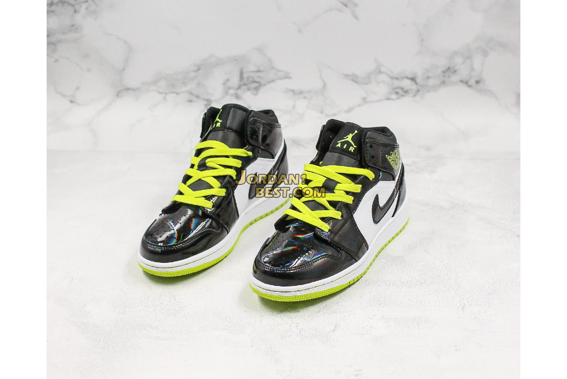 "Air Jordan 1 Mid SE GS ""Black Cyber"" BQ6931-003 Mens Womens"
