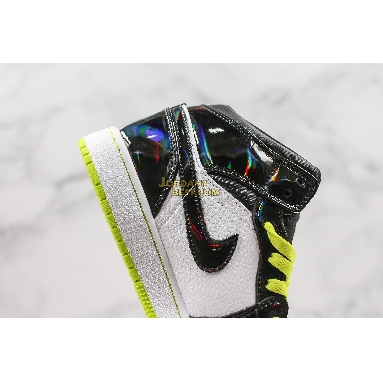 "new replicas Air Jordan 1 Mid SE GS ""Black Cyber"" BQ6931-003 Mens Womens black/cyber-white-mystic green Shoes replicas On Wholesale Sale Online"
