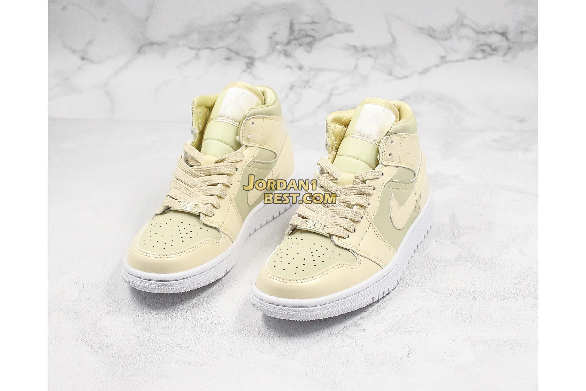 "Air Jordan 1 Mid ""Lemon Yellow"" CK6587-200 Mens Womens"