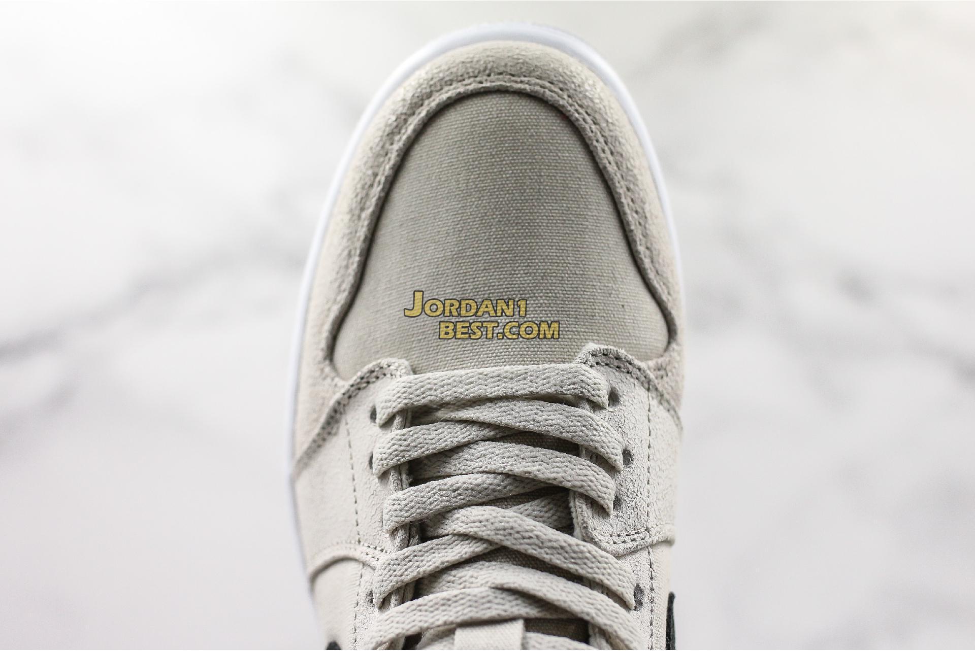 """Air Jordan 1 Retro Mid GS """"Light Bone"""" 554725-023 Mens"""