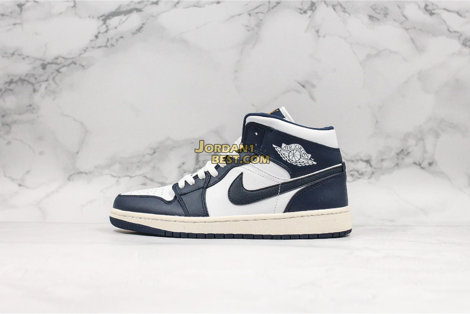 "Air Jordan 1 Mid ""Obsidian"" 554724-174 Mens Womens"