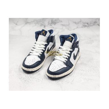"top 3 fake Air Jordan 1 Mid ""Obsidian"" 554724-174 Mens Womens white/obsidian-metallic gold Shoes replicas On Wholesale Sale Online"