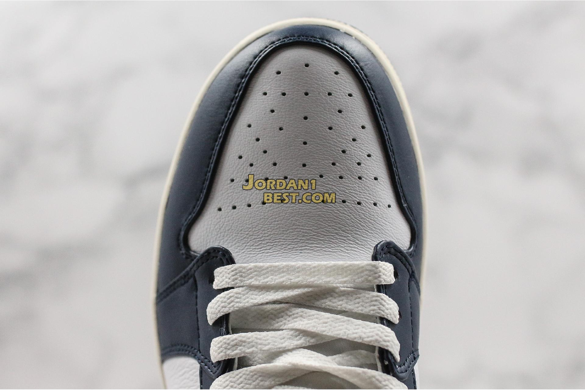 "Air Jordan 1 Mid ""Obsidian"" 554724-174 Mens Womens"