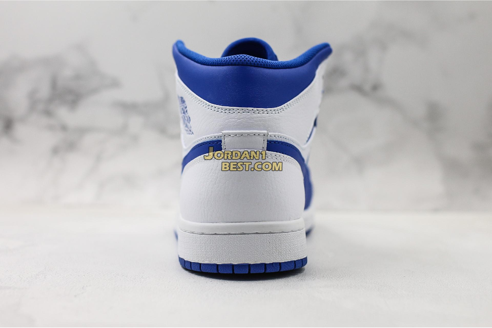 "Air Jordan 1 Mid ""Hyper Royal"" 554724-114 Mens Womens"