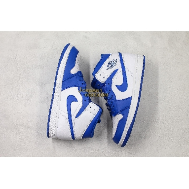 """AAA Quality Air Jordan 1 Mid """"Hyper Royal"""" 554724-114 Mens Womens white/hyper royal Shoes replicas On Wholesale Sale Online"""