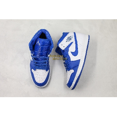 "AAA Quality Air Jordan 1 Mid ""Hyper Royal"" 554724-114 Mens Womens white/hyper royal Shoes replicas On Wholesale Sale Online"