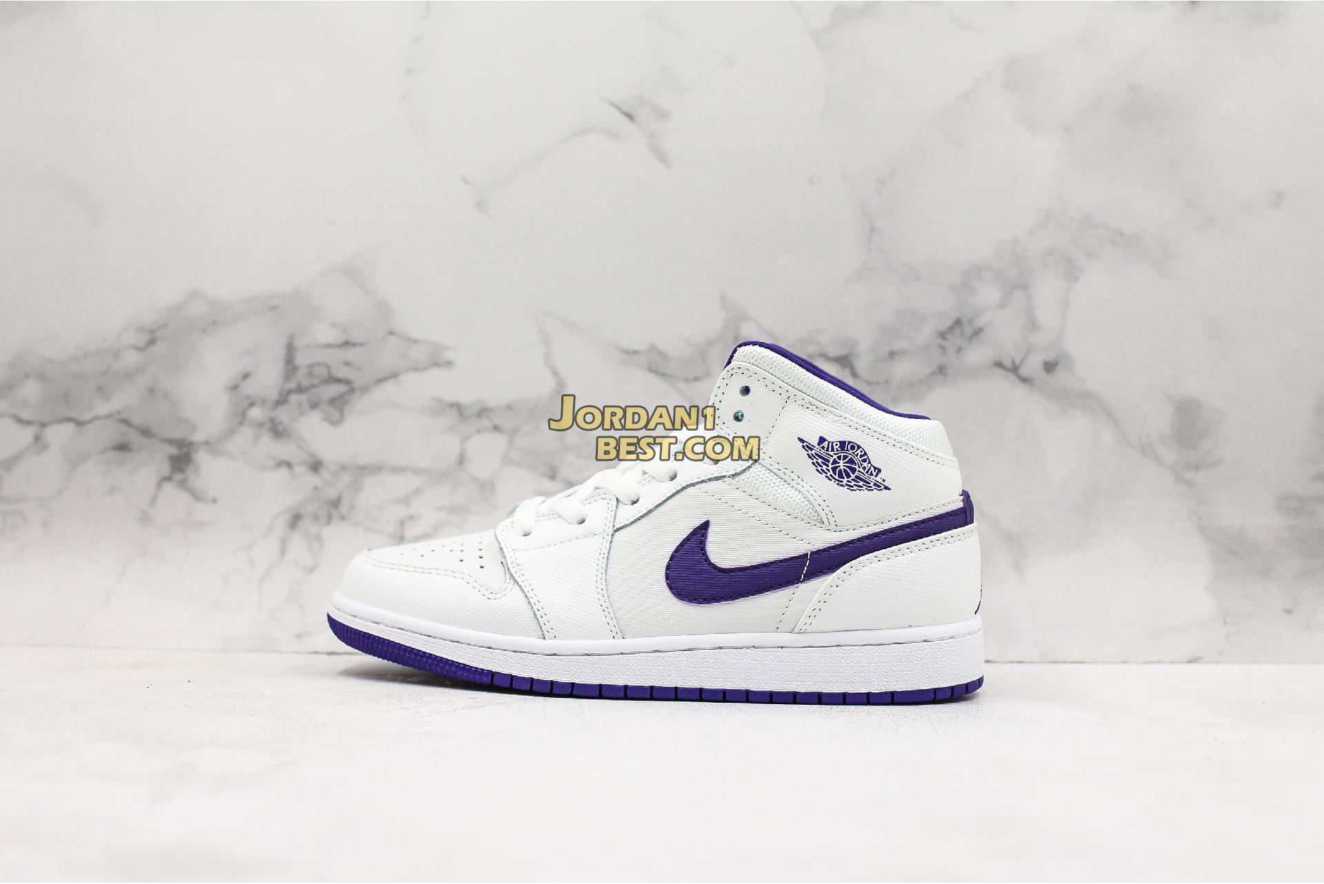 "Air Jordan 1 Retro High GG ""White Court Purple"" 332148-137 Womens"
