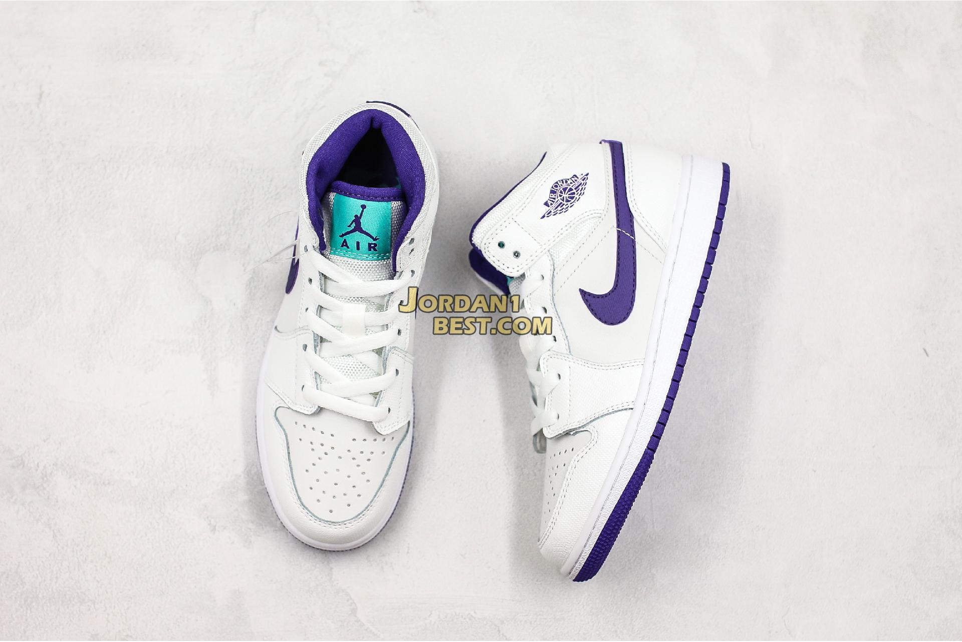 """Air Jordan 1 Retro High GG """"White Court Purple"""" 332148-137 Womens"""