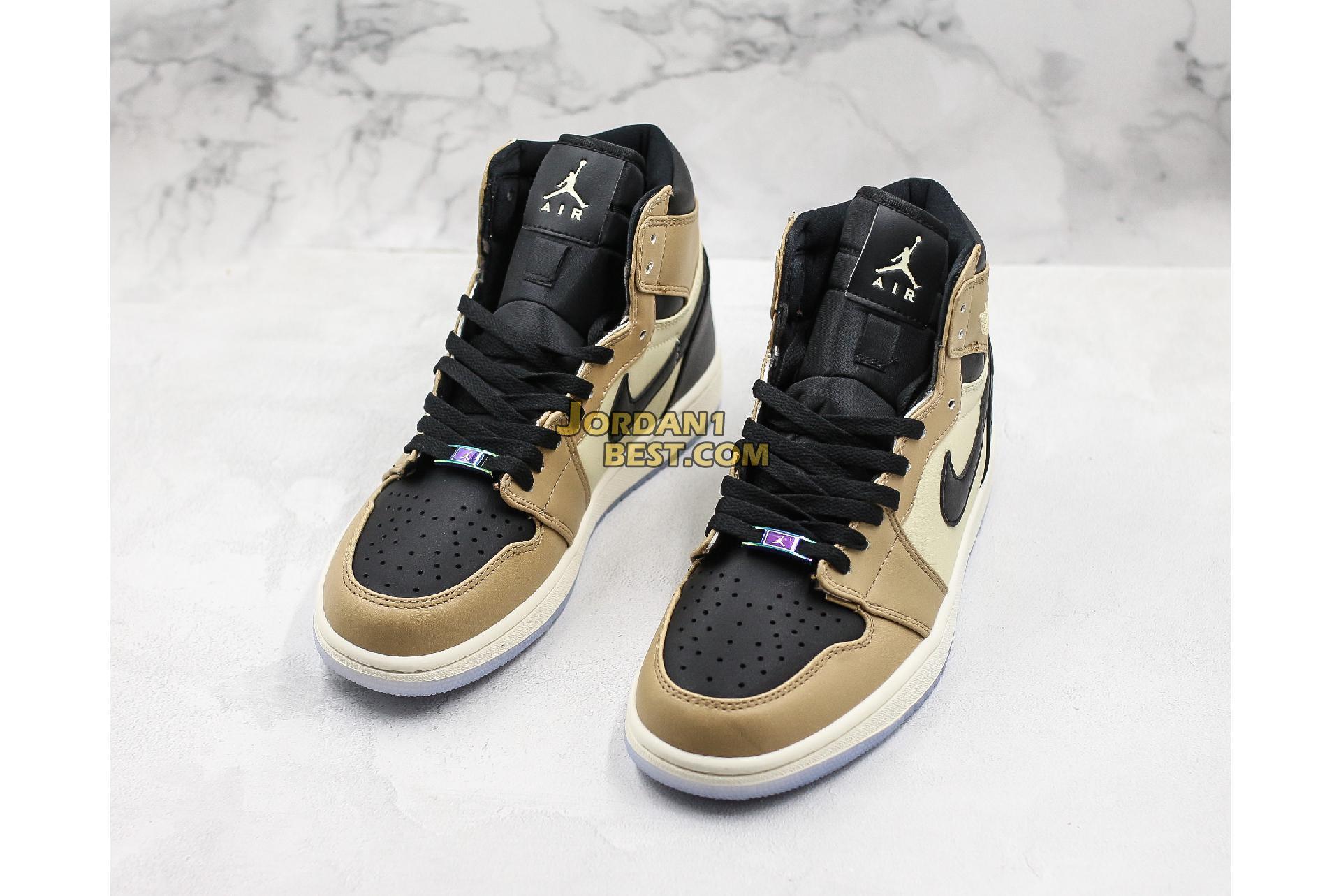 """Air Jordan 1 Mid """"Mushroom"""" AH7389-003 Mens Womens"""