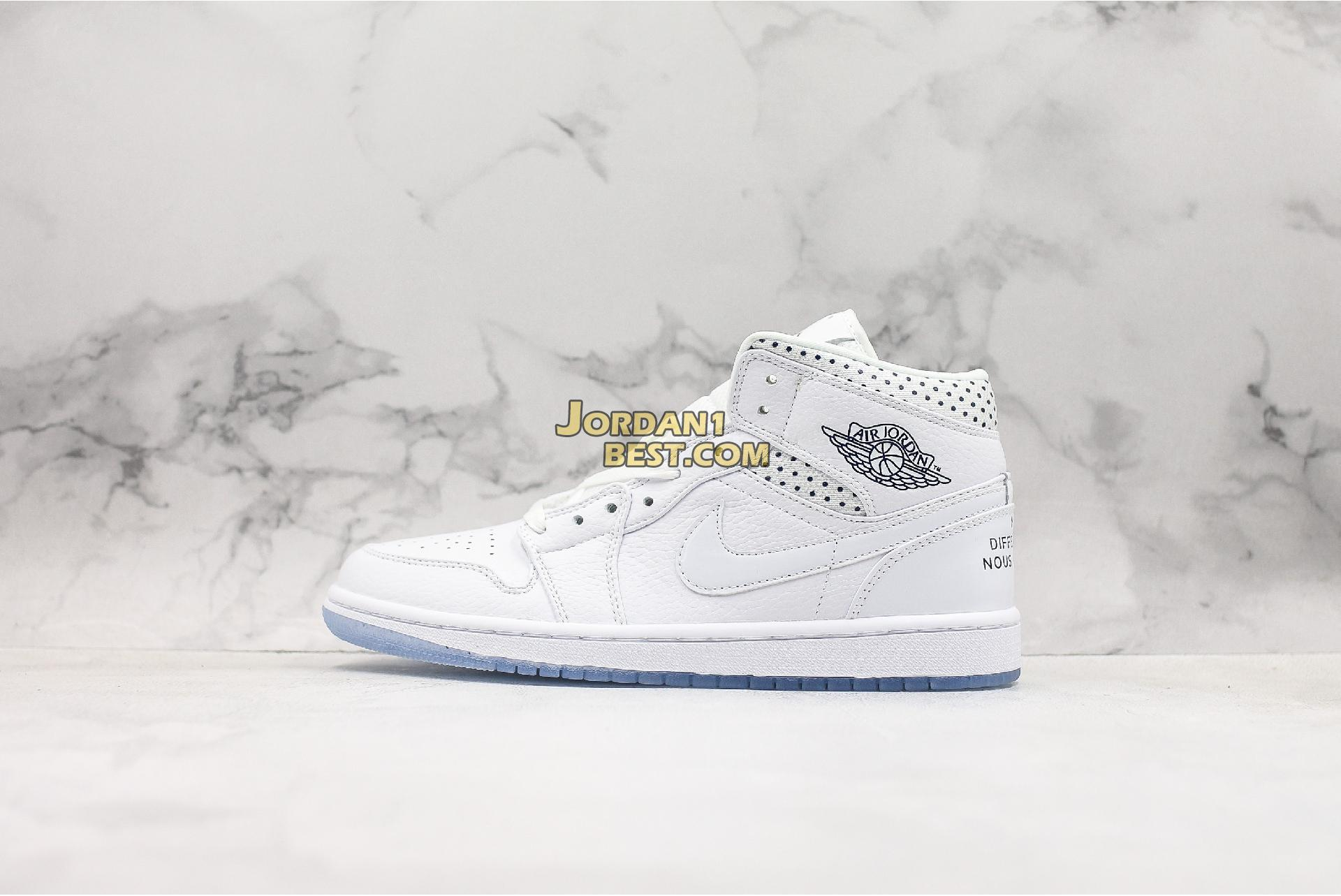 "Air Jordan 1 Mid ""Unité Totale"" CI9100-100 Mens Womens"