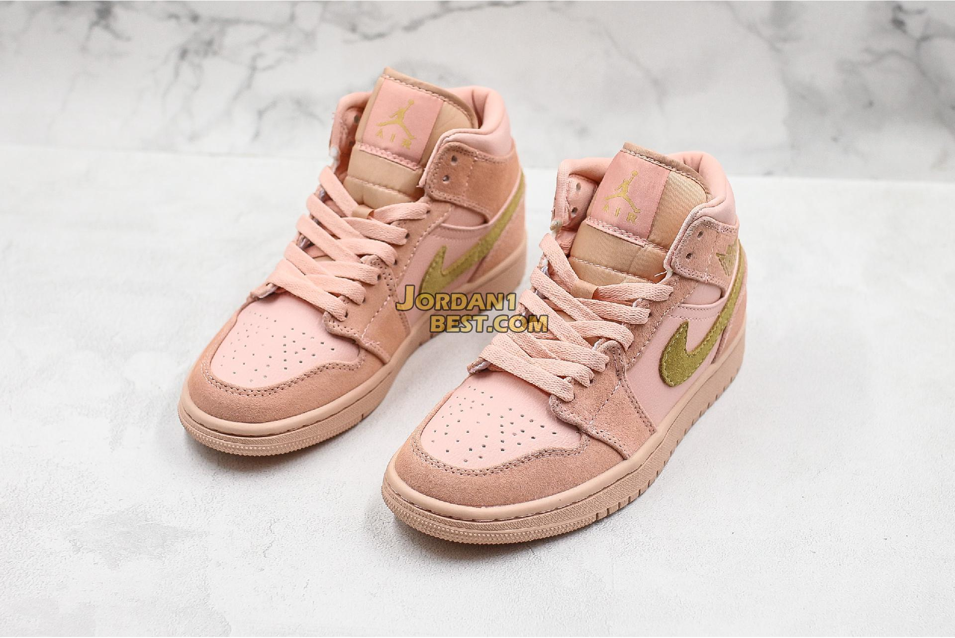 "Air Jordan 1 Mid ""Coral Gold"" 852542-600 Womens"