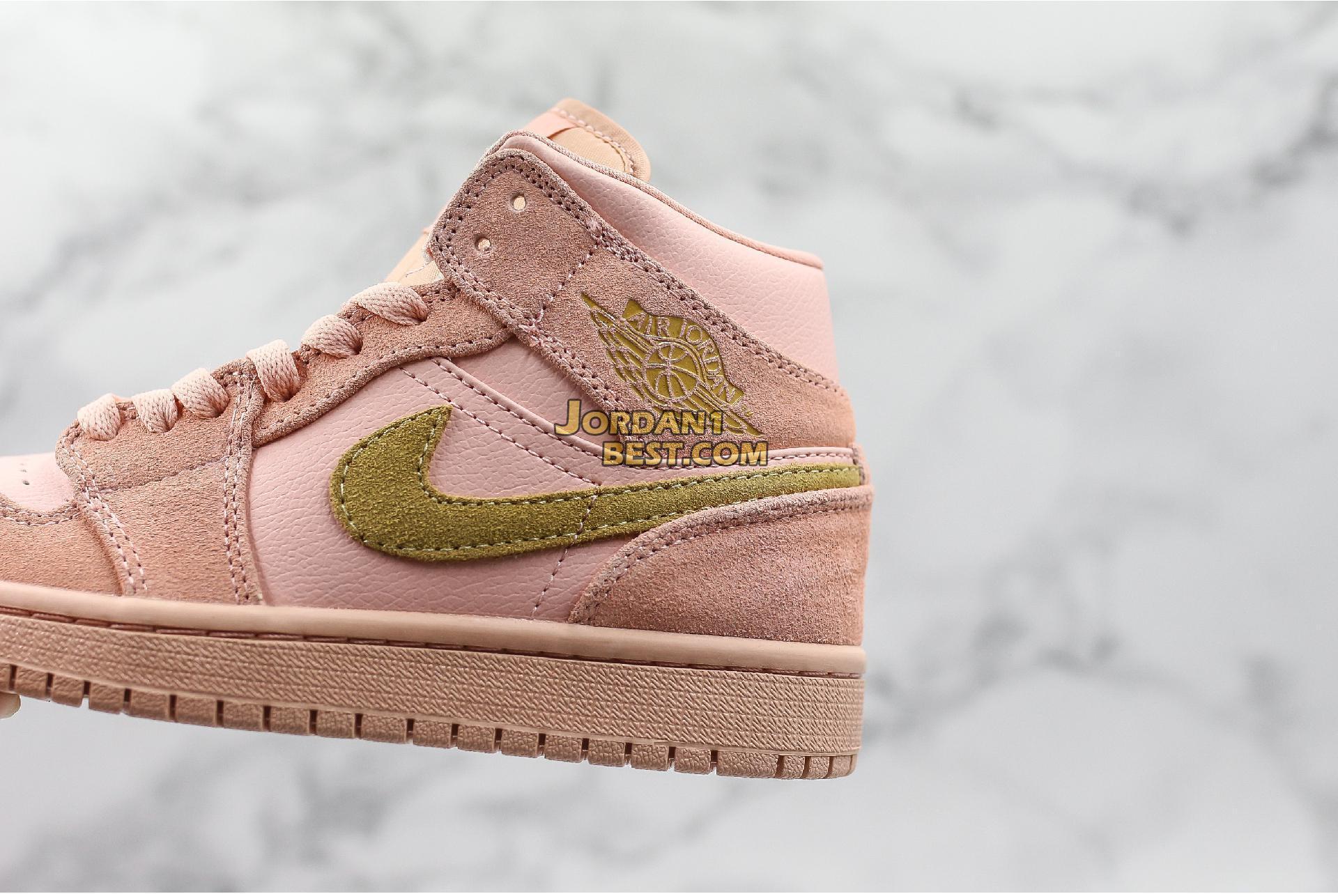 "Air Jordan 1 Mid ""Coral Gold"" 852542-600 Womens"