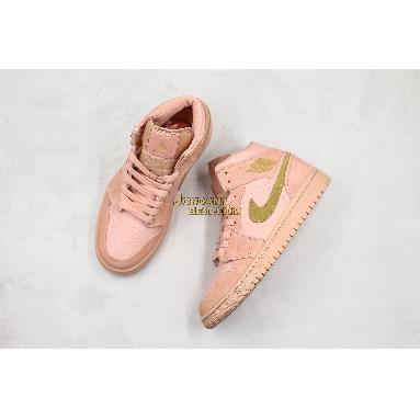 "best replicas Air Jordan 1 Mid ""Coral Gold"" 852542-600 Womens coral/gold Shoes replicas On Wholesale Sale Online"