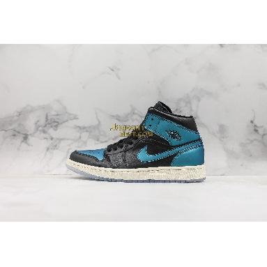 "new replicas Air Jordan 1 Mid ""Metallic Turquoise"" BQ6472-009 Mens Womens black/pale ivory-multi-color Shoes replicas On Wholesale Sale Online"