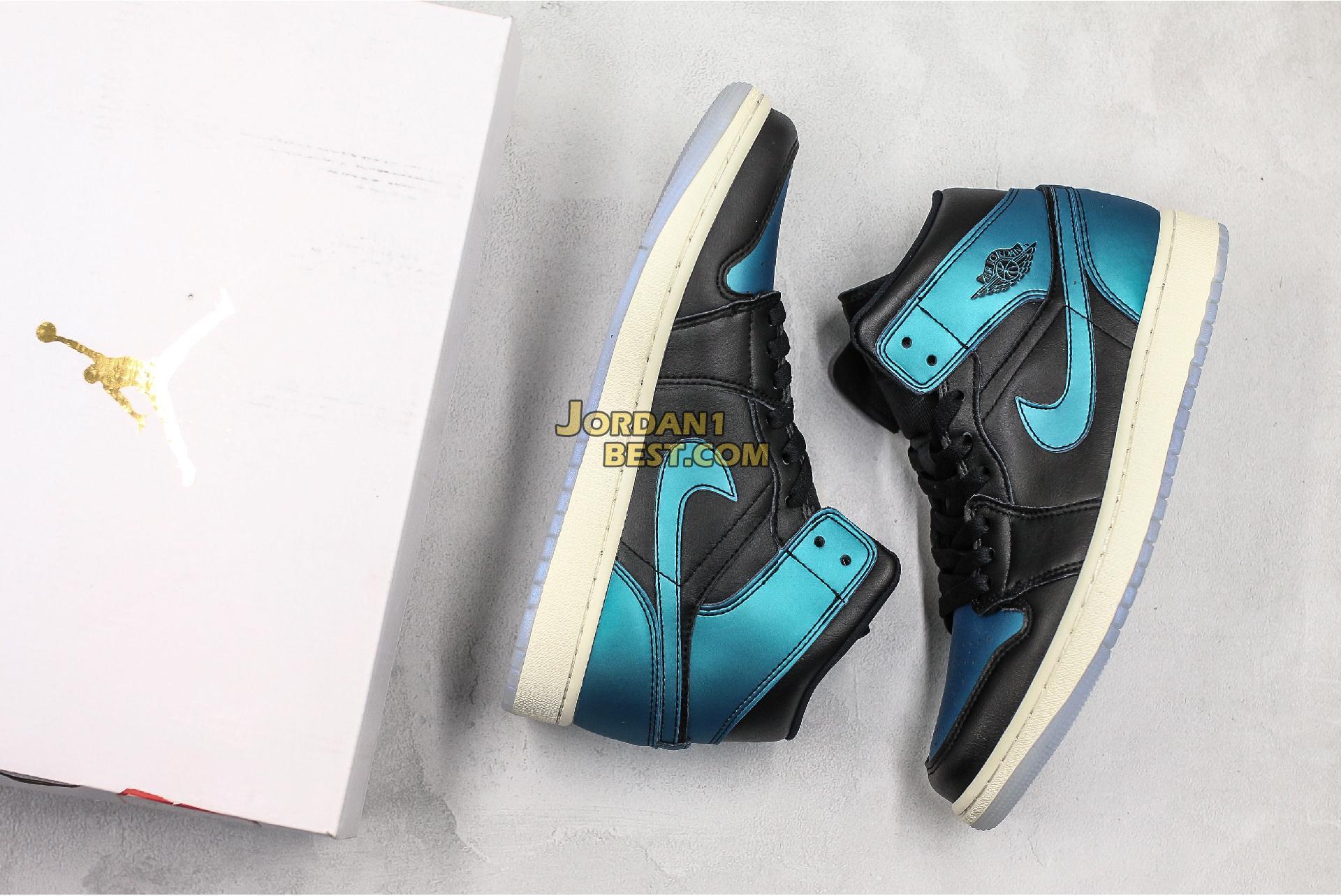 "Air Jordan 1 Mid ""Metallic Turquoise"" BQ6472-009 Mens Womens"