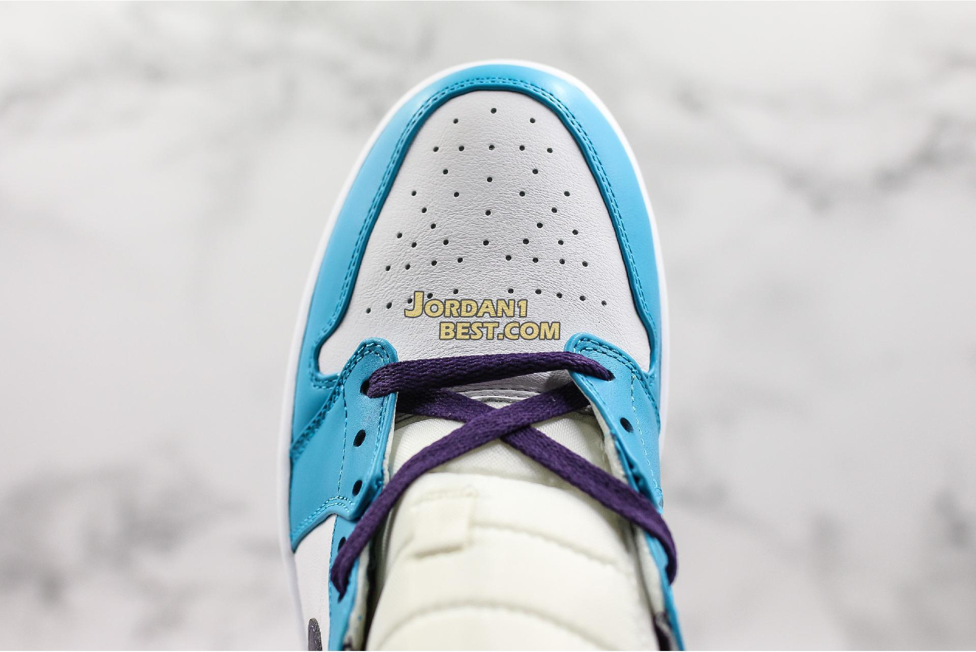 "Air Jordan 1 Mid ""Hornets"" 554724-415 Mens Womens"