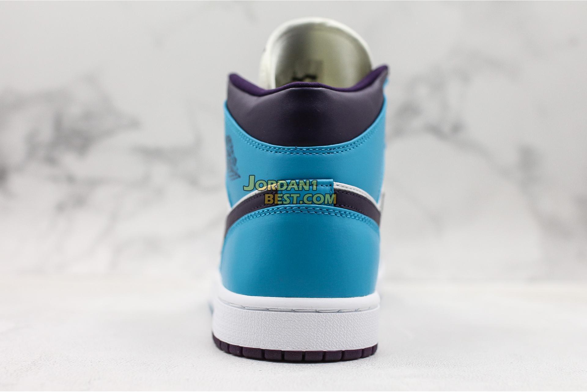 "Air Jordan 1 Mid ""Hornets"" 554724-415 Mens Womens"