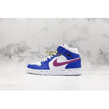 "fake Air Jordan 1 Mid ""Royal Violet"" 554724-415 Mens Womens hyper royal/hyper violet-white Shoes replicas On Wholesale Sale Online"