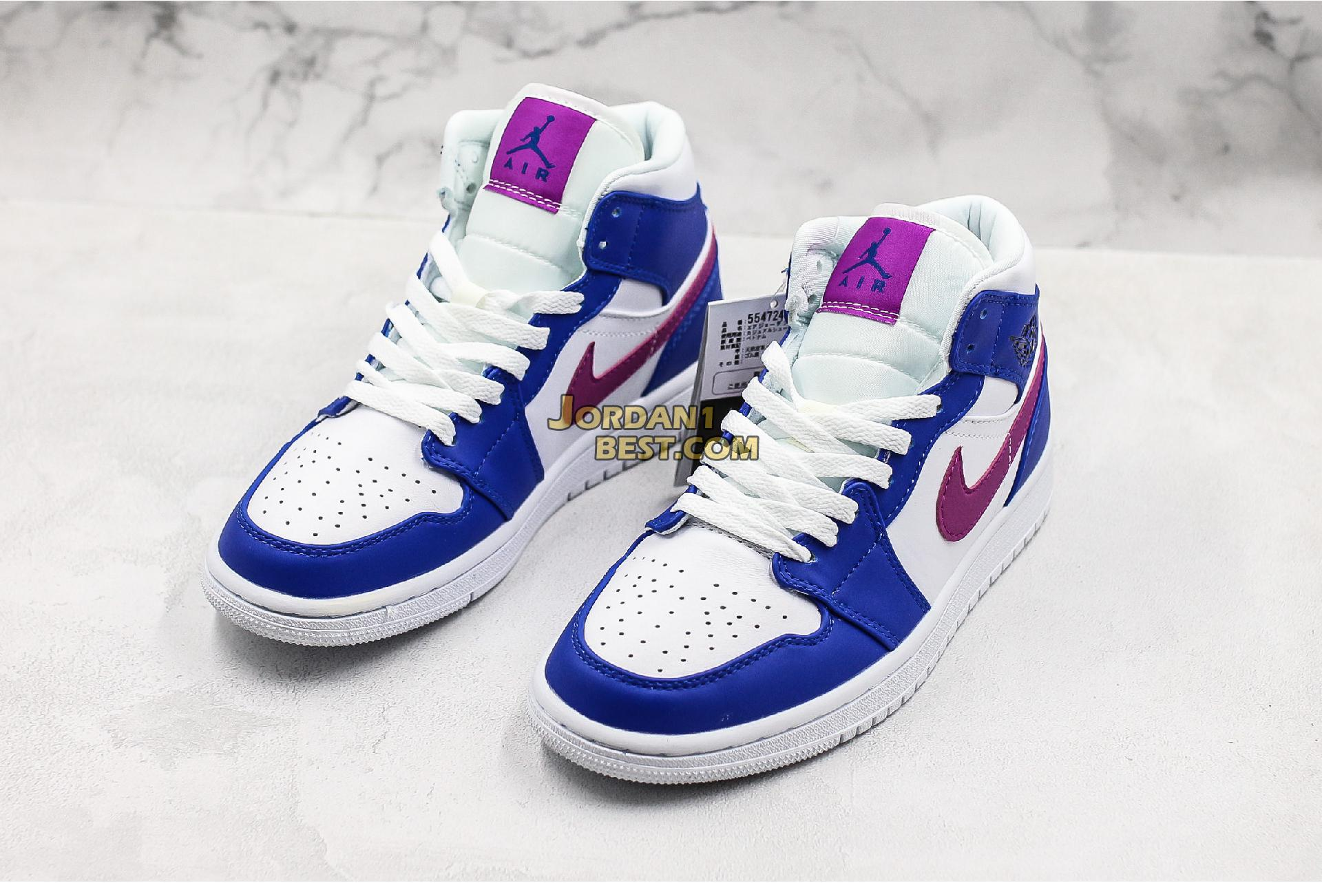 "Air Jordan 1 Mid ""Royal Violet"" 554724-415 Mens Womens"