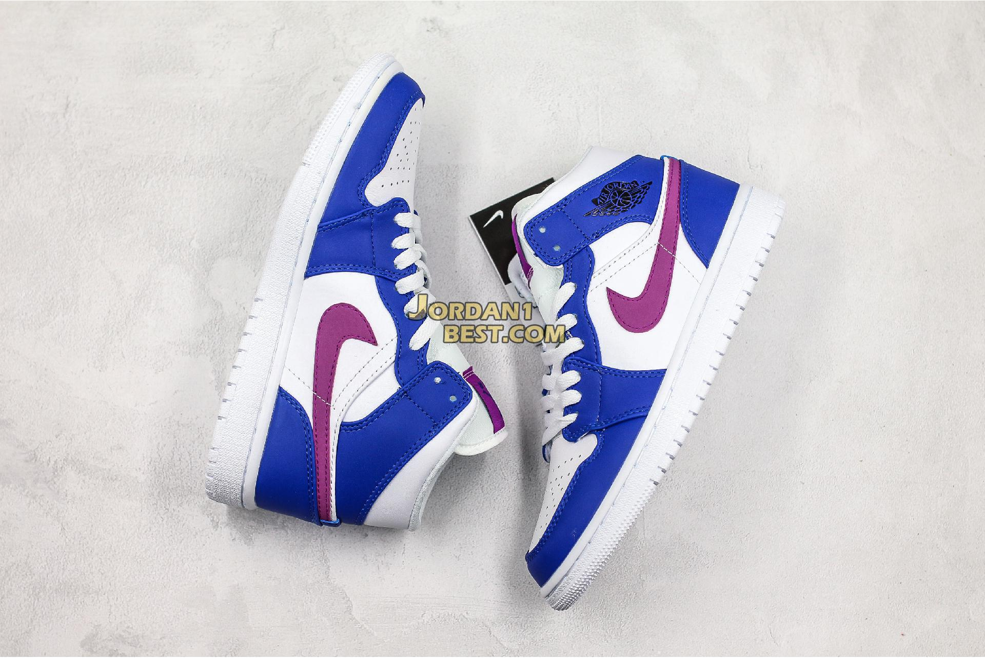 """Air Jordan 1 Mid """"Royal Violet"""" 554724-415 Mens Womens"""