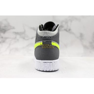 "top 3 fake Air Jordan 1 Mid ""Grey Volt"" 554724-072 Mens Womens gunsmoke/volt-neutral grey-white-black Shoes replicas On Wholesale Sale Online"