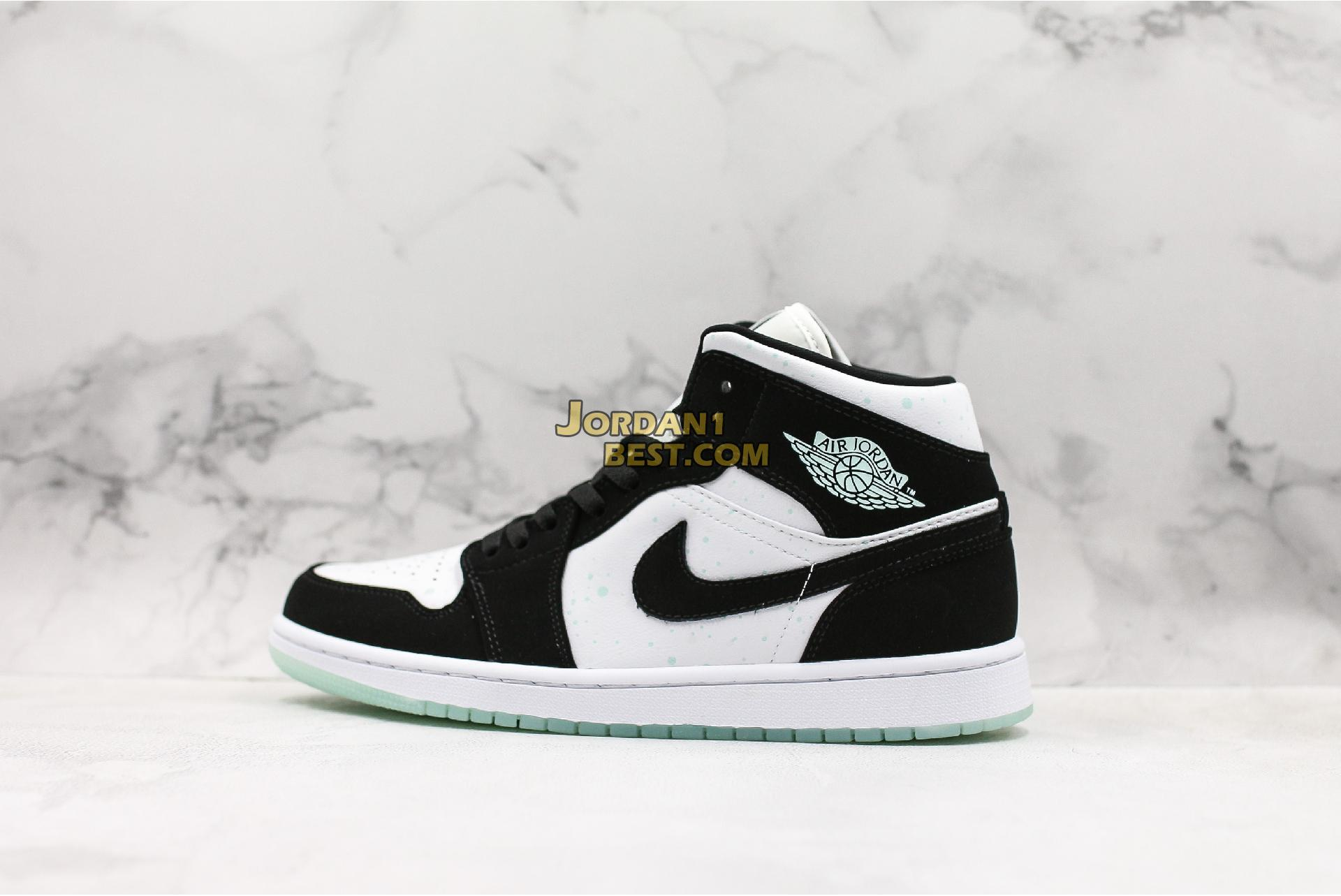 "Air Jordan 1 Mid SE GS ""Glow in the Dark Panda"" BQ6931-103 Mens Womens"
