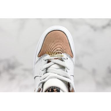 "new replicas Air Jordan 1 Mid GS ""White Rose Gold"" 555112-190 Womens white/rose gold-black Shoes replicas On Wholesale Sale Online"