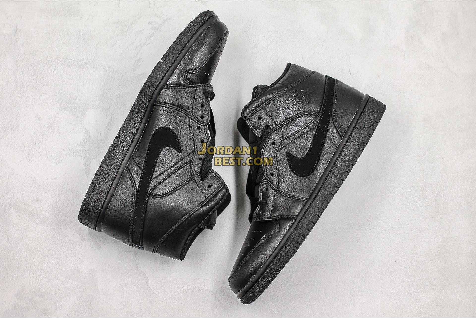 "Air Jordan 1 Mid ""Deep Black"" 554725-090 Mens Womens"