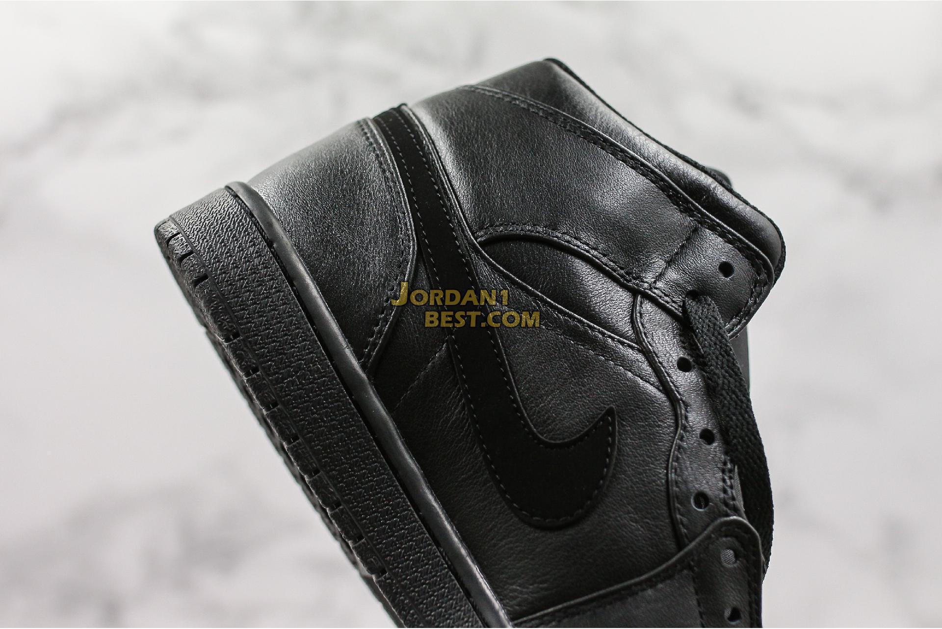 """Air Jordan 1 Mid """"Deep Black"""" 554725-090 Mens Womens"""